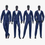 男性スーツ6 3d model