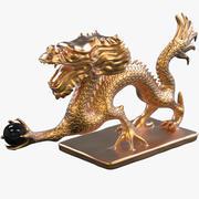 Figurka smoka Fengshui 3d model