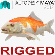 Harivake Koi Fish Rigged for Maya 3d model