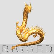 Gold Dragon aparejado V2 modelo 3d