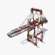 Портовый контейнерный кран 3d model