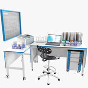 実験室の職場_2 3d model