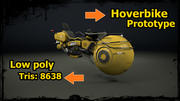 Hoverbike prototype 3d model
