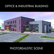 Office and industrial building 3d model