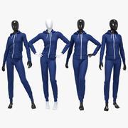 Female sport suit 2 3d model