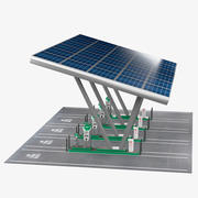 Estación de carga de vehículos eléctricos modelo 3d