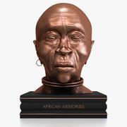 African Woman Bust 3d model