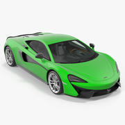 McLaren 570S Coupe Simple Interior 3d model