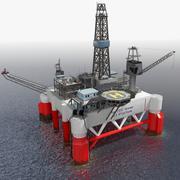 Plate-forme pétrolière 3d model
