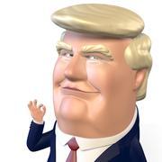 Donald Trump puppet 3d model