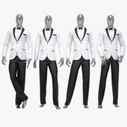 男性スーツ4 3d model