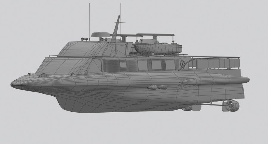 Snel jacht royalty-free 3d model - Preview no. 12