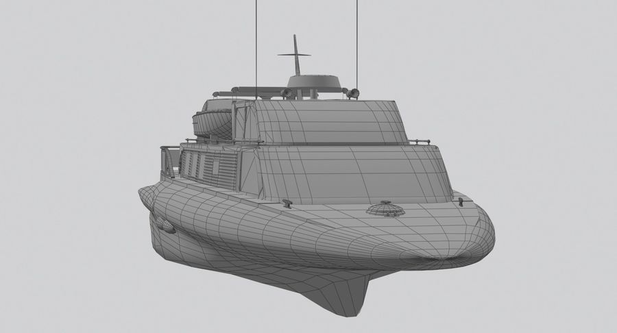 Snel jacht royalty-free 3d model - Preview no. 16