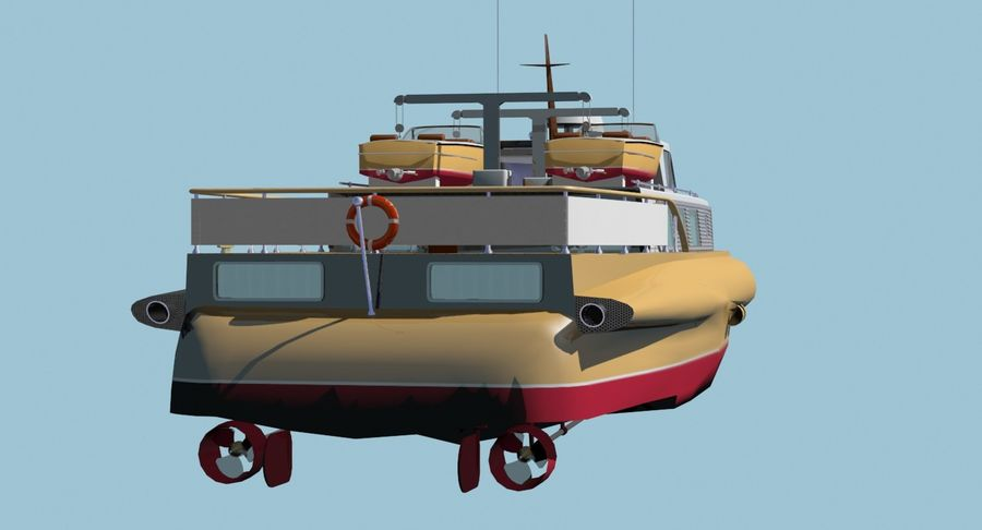 Snel jacht royalty-free 3d model - Preview no. 10