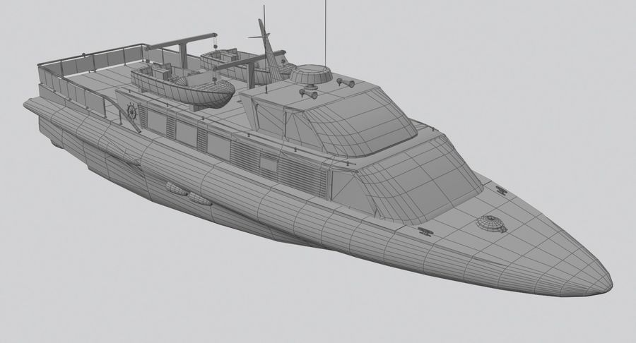 Snel jacht royalty-free 3d model - Preview no. 14