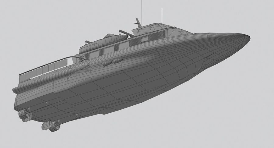 Snel jacht royalty-free 3d model - Preview no. 13