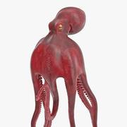 Model 3D pozycji pływackiej ośmiornicy pospolitej 3d model