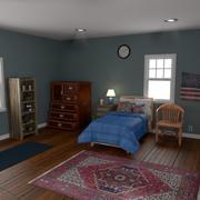 침실 버전 1 3d model