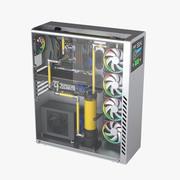 Watercooling Desktop PC 3d model