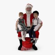 산타와 아이들 3d model