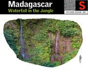 Wodospad w dżungli 3d model