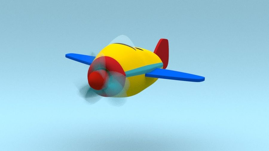Toy Cartoon Airplane 3d Model 5 Ma Unknown Obj Fbx Free3d