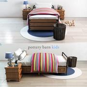 Celeiro de cerâmica, cama de armazenamento de plataforma Owen 3d model