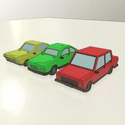 Low-Poly-Autos 3d model