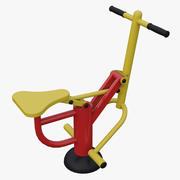 Equipo de ejercicios al aire libre Equitación Máquina de ejercicio modelo 3d