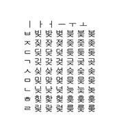 Alfabeto coreano set3 dati CAD CG 3d model