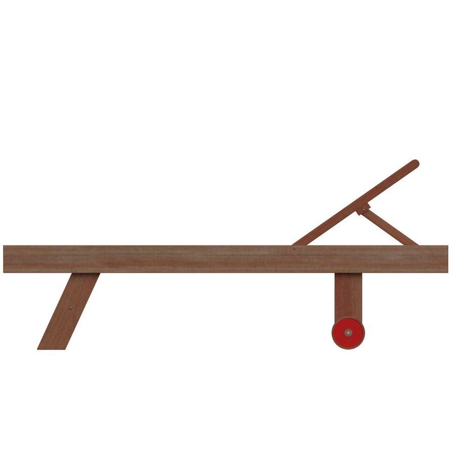 木制太阳椅1 royalty-free 3d model - Preview no. 4