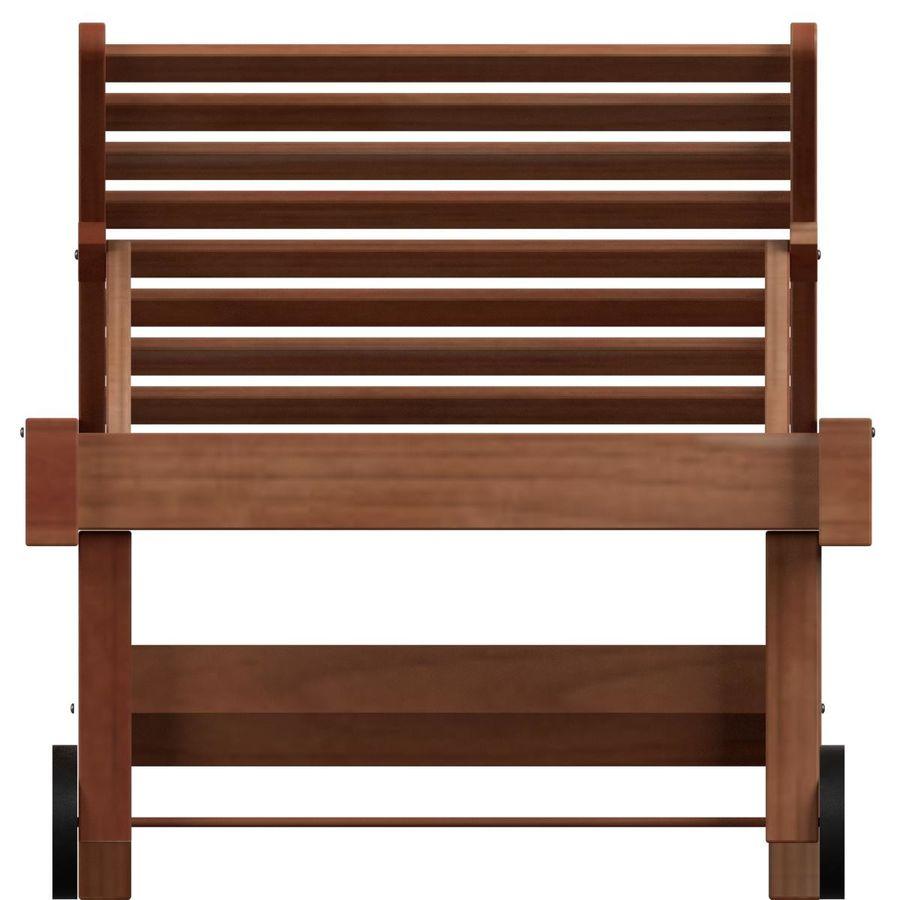 木制太阳椅1 royalty-free 3d model - Preview no. 3