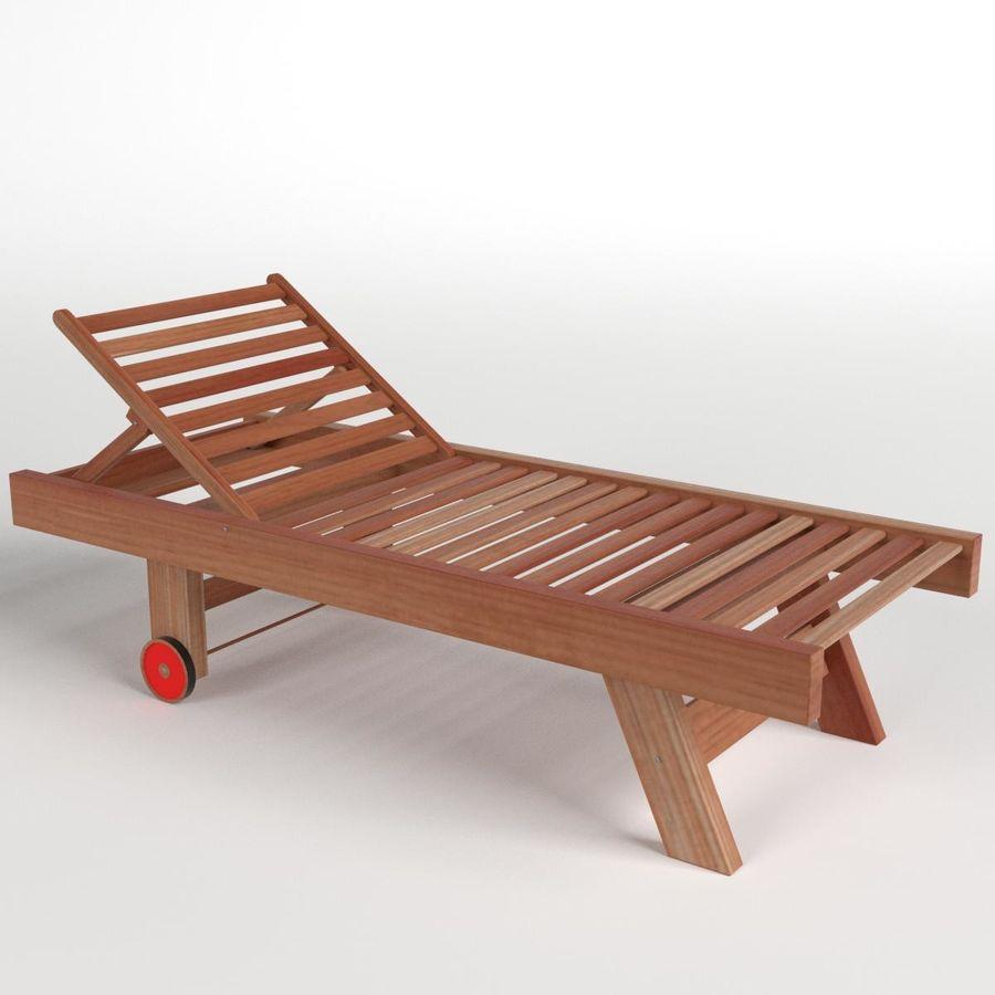 木制太阳椅1 royalty-free 3d model - Preview no. 1