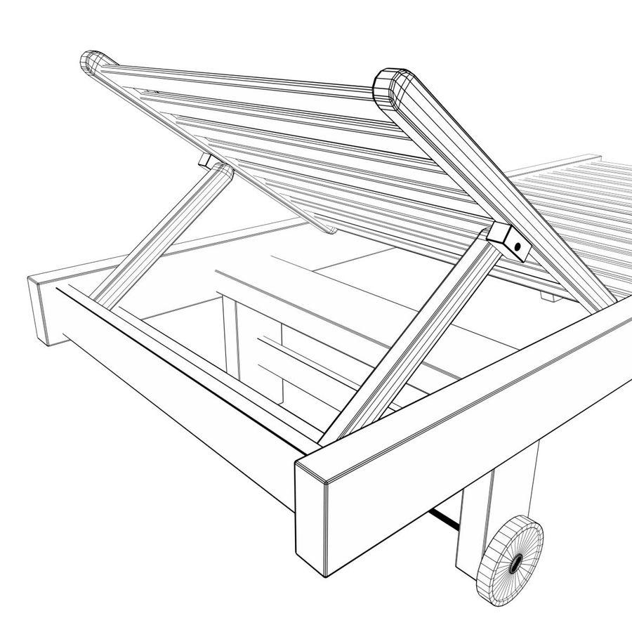 木制太阳椅1 royalty-free 3d model - Preview no. 8