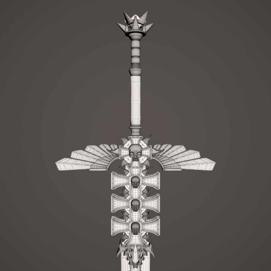 Fantasie zwaard royalty-free 3d model - Preview no. 6