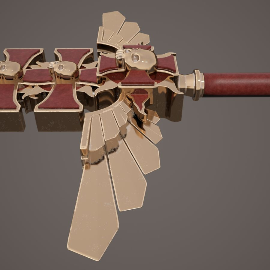 Fantasie zwaard royalty-free 3d model - Preview no. 15