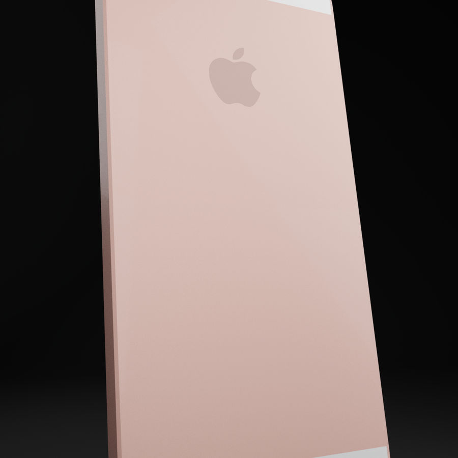 iPhone SE royalty-free 3d model - Preview no. 2