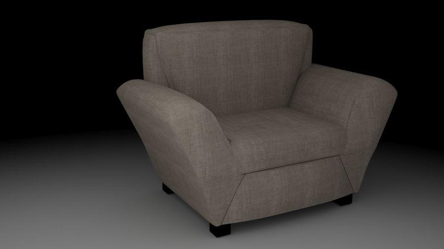 扶手椅(棕色) royalty-free 3d model - Preview no. 3