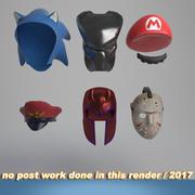 ヘルメットとマスク 3d model