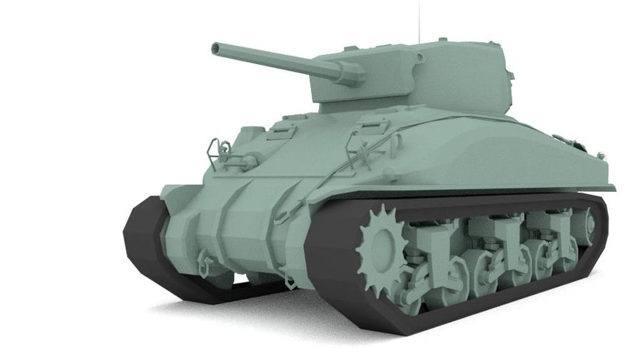 M4 Sherman Tank royalty-free 3d model - Preview no. 1