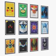 Ramowe plakaty pokemonów IKEA 3d model
