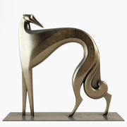 Statue Windhund Art Deco Style 3d model