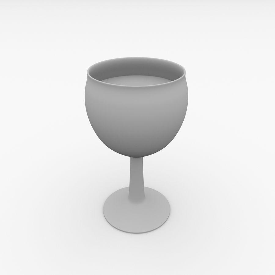 İçki ile Bardak v3 royalty-free 3d model - Preview no. 4