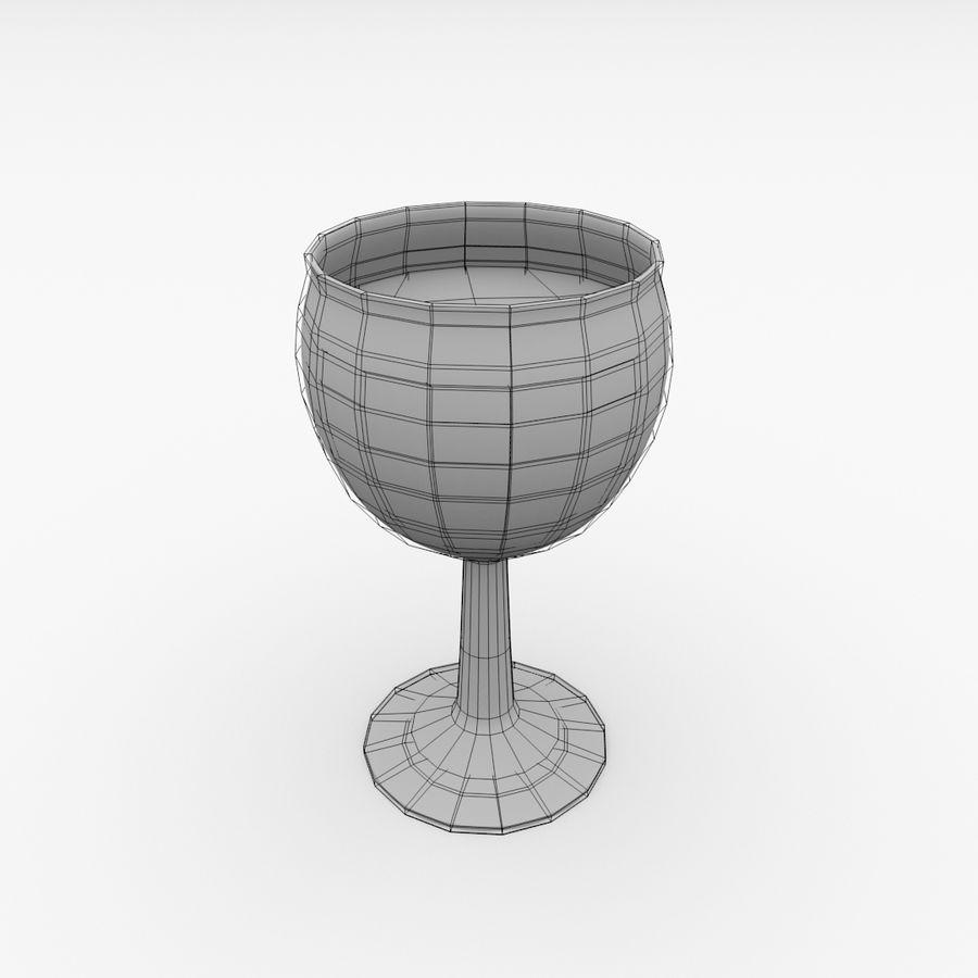 İçki ile Bardak v3 royalty-free 3d model - Preview no. 5