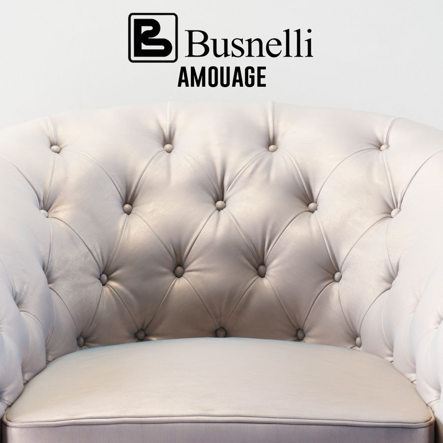 Busnelli Amouage fauteuil royalty-free 3d model - Preview no. 2