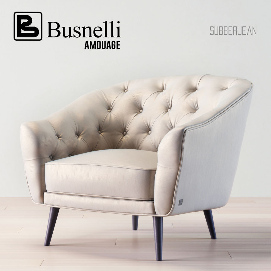 Busnelli Amouage fauteuil royalty-free 3d model - Preview no. 1