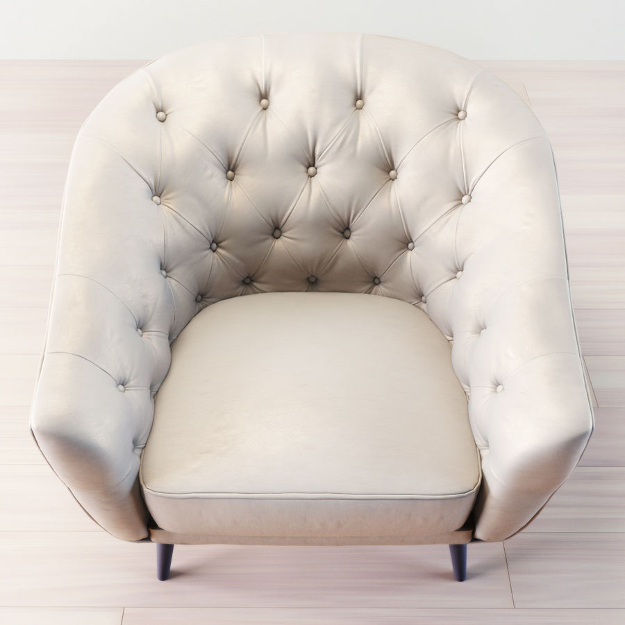 Busnelli Amouage fauteuil royalty-free 3d model - Preview no. 3