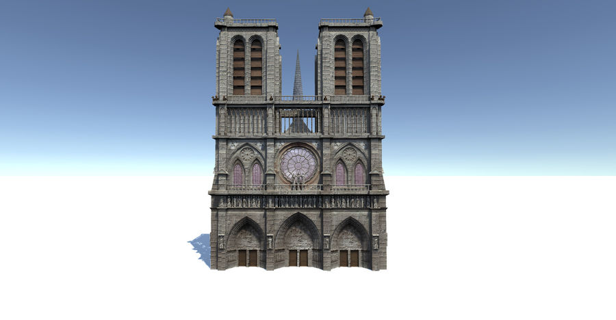 Notre Dame royalty-free 3d model - Preview no. 2
