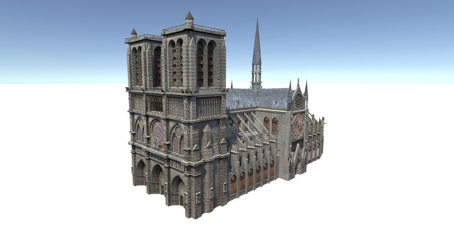 Notre Dame royalty-free 3d model - Preview no. 1