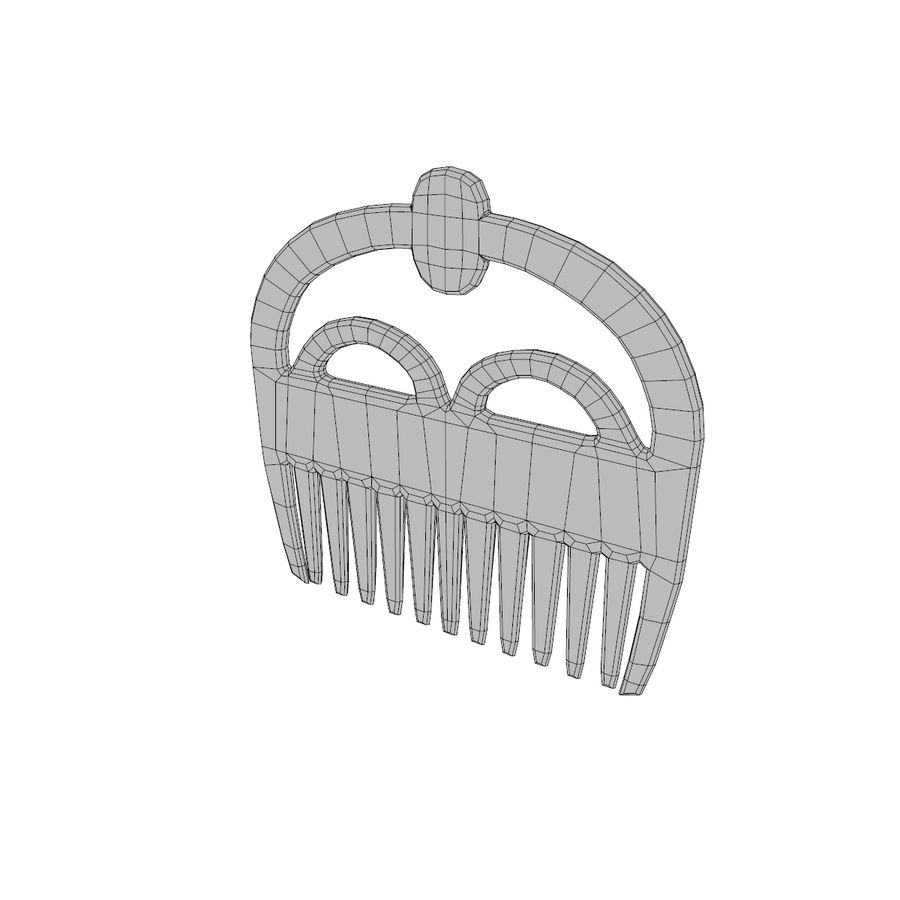 Pettine A royalty-free 3d model - Preview no. 4